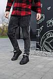 Чоловічі черевики шкіряні зимові чорні, фото 3