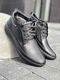 Мужские ботинки кожаные зимние черные, фото 2