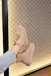 Женские ботинки замшевые весна/осень бежевые, фото 8
