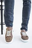 Мужские кеды кожаные летние бежевые, фото 2