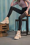 Женские ботинки кожаные весна/осень бежевые, фото 3