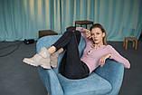Женские ботинки кожаные весна/осень бежевые, фото 5