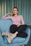 Женские ботинки кожаные весна/осень бежевые, фото 6