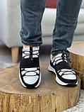 Мужские кроссовки кожаные весна/осень белые, фото 3