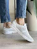 Женские кроссовки кожаные летние белые, фото 5