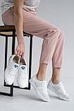 Женские кроссовки кожаные летние белые, фото 9
