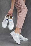 Женские кроссовки кожаные летние белые, фото 10