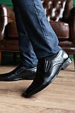 Мужские туфли кожаные весна/осень черные, фото 4