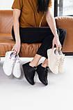 Женские кроссовки кожаные весна/осень бежевые, фото 8