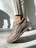 Жіночі кросівки шкіряні весна/осінь бежеві, фото 2