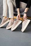Женские кеды кожаные летние бежевые, фото 6