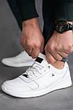 Мужские кроссовки кожаные весна/осень белые, фото 4