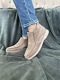 Женские ботинки замшевые весна/осень бежевые, фото 2
