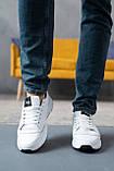 Мужские кроссовки кожаные весна/осень белые, фото 5