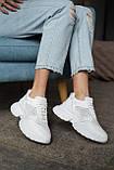 Женские кроссовки кожаные летние белые, фото 2