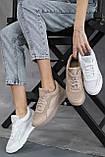 Женские кроссовки кожаные летние бежевые, фото 8