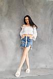 Женские шлепанцы кожаные летние белые, фото 2