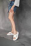 Женские шлепанцы кожаные летние белые, фото 4
