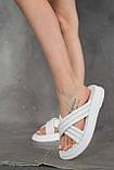 Женские шлепанцы кожаные летние белые, фото 7