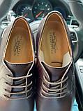 Чоловічі туфлі шкіряні весна/осінь коричневі, фото 2