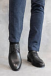 Мужские туфли кожаные весна/осень черные, фото 2