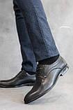 Мужские туфли кожаные весна/осень черные, фото 3