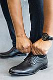 Мужские туфли кожаные весна/осень черные, фото 5