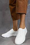 Жіночі кросівки шкіряні весна/осінь білі, фото 2