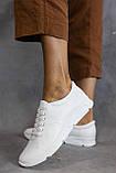 Жіночі кросівки шкіряні весна/осінь білі, фото 3