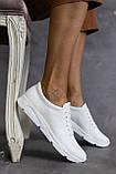 Жіночі кросівки шкіряні весна/осінь білі, фото 6