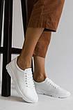 Жіночі кросівки шкіряні весна/осінь білі, фото 7