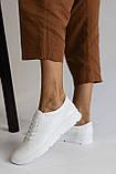 Жіночі кросівки шкіряні весна/осінь білі, фото 8