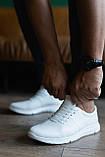 Чоловічі кросівки шкіряні весна/осінь білі, фото 3