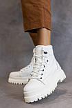 Жіночі черевики шкіряні весна/осінь білі, фото 2