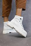 Жіночі черевики шкіряні весна/осінь білі, фото 4
