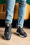 Чоловічі кросівки шкіряні весна/осінь чорні, фото 2