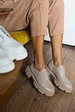 Жіночі туфлі шкіряні весна/осінь білі, фото 5