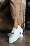 Жіночі туфлі шкіряні весна/осінь білі, фото 6
