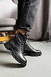 Женские ботинки кожаные весна/осень черные, фото 5