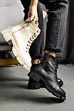 Женские ботинки кожаные весна/осень черные, фото 6