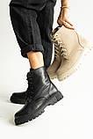 Женские ботинки кожаные весна/осень черные, фото 2