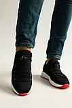 Мужские кроссовки нубуковые весна/осень черные-красные, фото 3