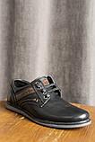 Подростковые туфли кожаные весна/осень черные, фото 2