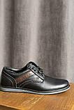 Подростковые туфли кожаные весна/осень черные, фото 3