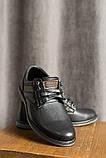 Подростковые туфли кожаные весна/осень черные, фото 4