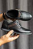 Подростковые туфли кожаные весна/осень черные, фото 5
