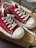 Стильные текстильные кеды красного цвета keddo, фото 4