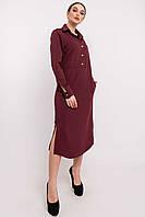 Стильное платье-рубашка Тенди свободного силуэта длиной миди 42-52 размер разные цвета