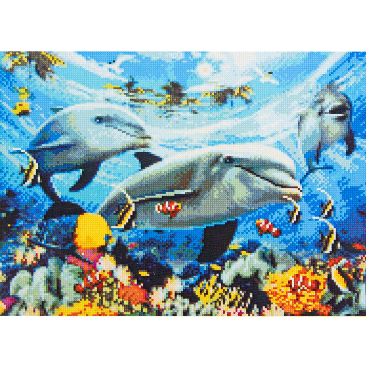 Алмазная вышивка 40x50 см. Морской мир Strateg в подарочной коробке