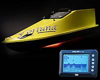 Кораблик для прикормки Фортуна (15000 mAh) з ехолотом Toslon TF300